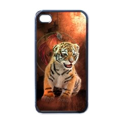 Cute Little Tiger Baby Apple Iphone 4 Case (black) by FantasyWorld7