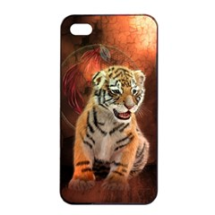 Cute Little Tiger Baby Apple Iphone 4/4s Seamless Case (black) by FantasyWorld7