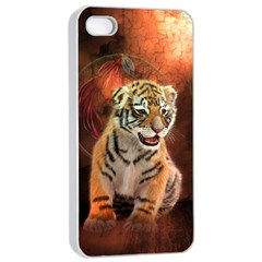 Cute Little Tiger Baby Apple Iphone 4/4s Seamless Case (white) by FantasyWorld7