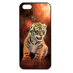 Cute Little Tiger Baby Apple Iphone 5 Seamless Case (black) by FantasyWorld7