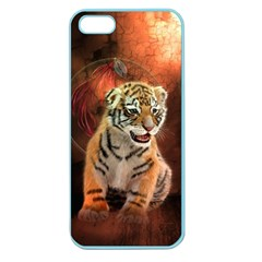 Cute Little Tiger Baby Apple Seamless Iphone 5 Case (color) by FantasyWorld7