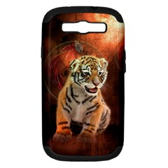 Cute Little Tiger Baby Samsung Galaxy S Iii Hardshell Case (pc+silicone) by FantasyWorld7
