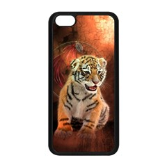 Cute Little Tiger Baby Apple Iphone 5c Seamless Case (black) by FantasyWorld7