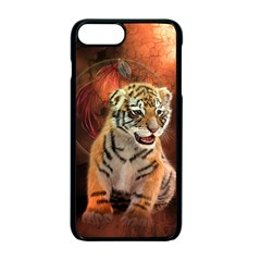 Cute Little Tiger Baby Apple Iphone 7 Plus Seamless Case (black) by FantasyWorld7