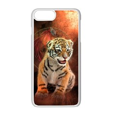 Cute Little Tiger Baby Apple Iphone 7 Plus White Seamless Case by FantasyWorld7