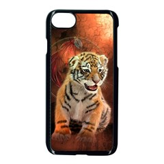 Cute Little Tiger Baby Apple Iphone 7 Seamless Case (black) by FantasyWorld7