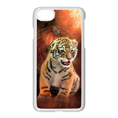 Cute Little Tiger Baby Apple Iphone 7 Seamless Case (white) by FantasyWorld7
