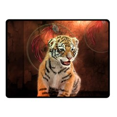 Cute Little Tiger Baby Fleece Blanket (small) by FantasyWorld7