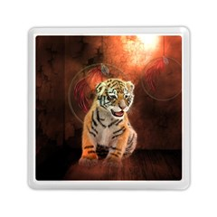 Cute Little Tiger Baby Memory Card Reader (square)  by FantasyWorld7