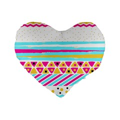 Tribal Standard 16  Premium Flano Heart Shape Cushions by allgirls
