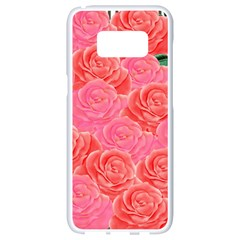 Roses Samsung Galaxy S8 White Seamless Case by allgirls