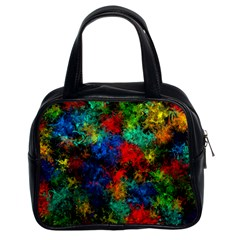Squiggly Abstract A Classic Handbags (2 Sides) by MoreColorsinLife