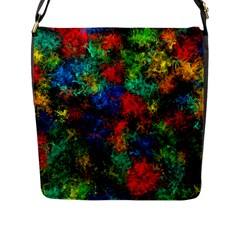 Squiggly Abstract A Flap Messenger Bag (l)  by MoreColorsinLife