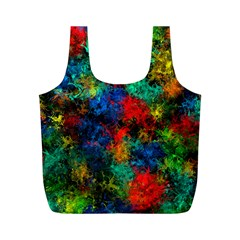 Squiggly Abstract A Full Print Recycle Bags (m)  by MoreColorsinLife