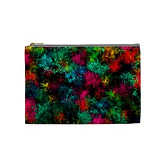 Squiggly Abstract B Cosmetic Bag (medium)  by MoreColorsinLife