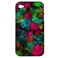 Squiggly Abstract B Apple Iphone 4/4s Hardshell Case (pc+silicone) by MoreColorsinLife