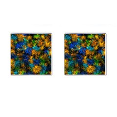 Squiggly Abstract C Cufflinks (square) by MoreColorsinLife