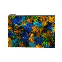 Squiggly Abstract C Cosmetic Bag (large)  by MoreColorsinLife