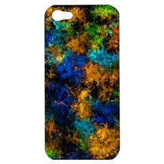 Squiggly Abstract C Apple Iphone 5 Hardshell Case by MoreColorsinLife