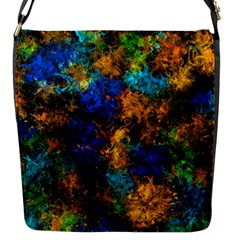 Squiggly Abstract C Flap Messenger Bag (s) by MoreColorsinLife