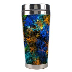 Squiggly Abstract C Stainless Steel Travel Tumblers by MoreColorsinLife