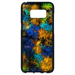 Squiggly Abstract C Samsung Galaxy S8 Black Seamless Case by MoreColorsinLife