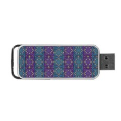 Retro Vintage Bleeding Hearts Pattern Portable Usb Flash (two Sides) by pepitasart