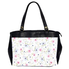 Floral Cute Girly Pattern Office Handbags (2 Sides)  by paulaoliveiradesign