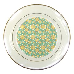 Seamless Pattern Blue Floral Porcelain Plates by paulaoliveiradesign