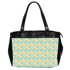 Seamless Pattern Blue Floral Office Handbags (2 Sides)  by paulaoliveiradesign