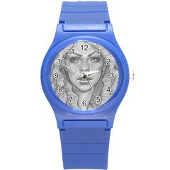 Dreaded Princess  Round Plastic Sport Watch (s)