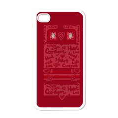 Heart Design Apple Iphone 4 Case (white)