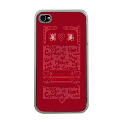 Heart Design Apple Iphone 4 Case (clear)