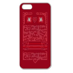 Heart Design Apple Seamless Iphone 5 Case (clear)