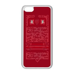 Heart Design Apple Iphone 5c Seamless Case (white)