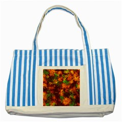 Squiggly Abstract F Striped Blue Tote Bag by MoreColorsinLife