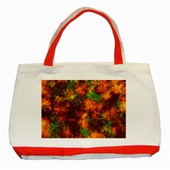 Squiggly Abstract F Classic Tote Bag (red)