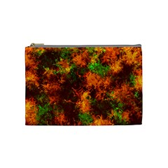 Squiggly Abstract F Cosmetic Bag (medium)  by MoreColorsinLife