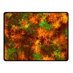Squiggly Abstract F Fleece Blanket (small) by MoreColorsinLife