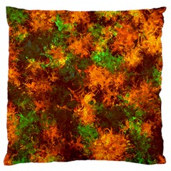 Squiggly Abstract F Large Cushion Case (two Sides) by MoreColorsinLife