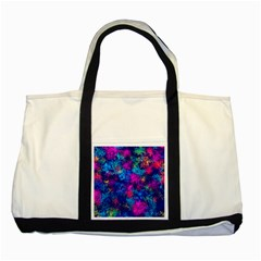 Squiggly Abstract E Two Tone Tote Bag by MoreColorsinLife