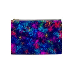 Squiggly Abstract E Cosmetic Bag (medium)  by MoreColorsinLife