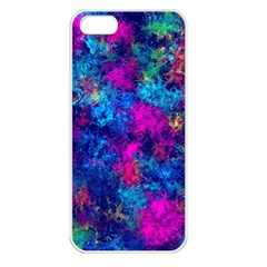 Squiggly Abstract E Apple Iphone 5 Seamless Case (white) by MoreColorsinLife