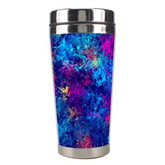 Squiggly Abstract E Stainless Steel Travel Tumblers by MoreColorsinLife