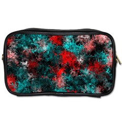 Squiggly Abstract D Toiletries Bags 2 Side by MoreColorsinLife