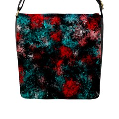 Squiggly Abstract D Flap Messenger Bag (l)  by MoreColorsinLife