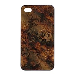 Wonderful Marbled Structure A Apple Iphone 4/4s Seamless Case (black) by MoreColorsinLife