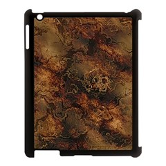 Wonderful Marbled Structure A Apple Ipad 3/4 Case (black) by MoreColorsinLife