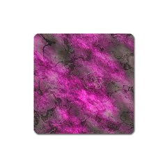 Wonderful Marbled Structure C Square Magnet