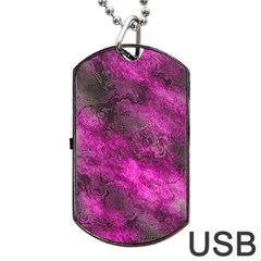 Wonderful Marbled Structure C Dog Tag Usb Flash (one Side) by MoreColorsinLife